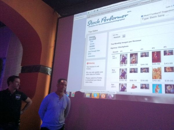 Presentation of Stock Performer at the Hack and Tell Meeting